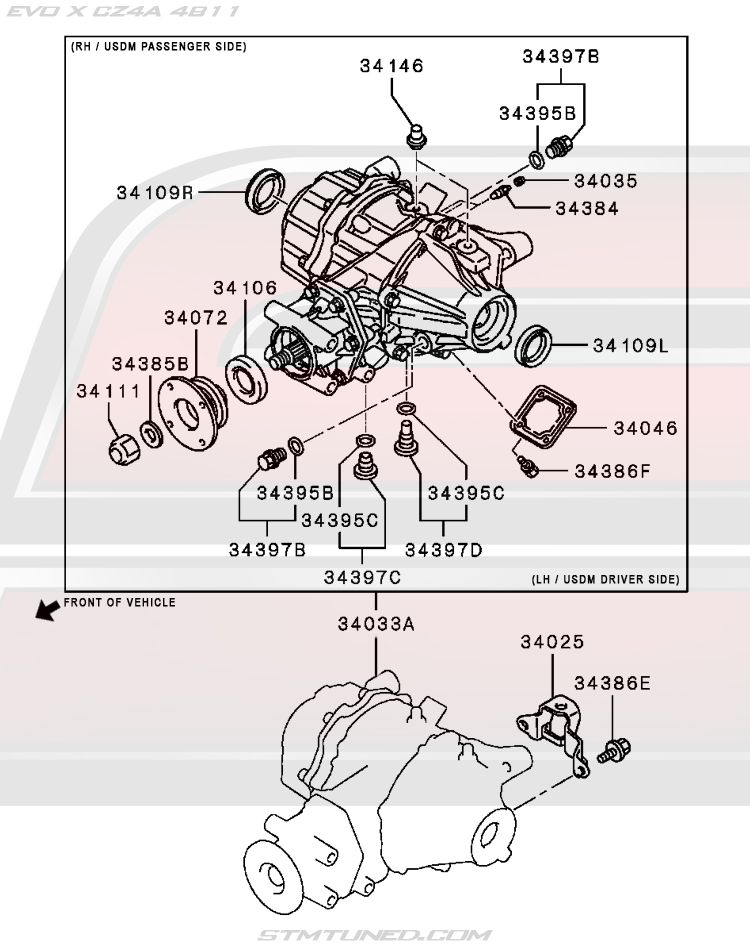 OEM EVO X DRIVETRAIN > REAR AXLE DIFFERENTIAL (27-220.4)
