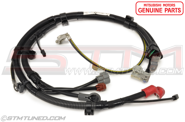 oem_evo89_battery_cable_positive_wiring_harness_mn124344 stm oem mitsubishi battery cable positive wiring harness battery cable wiring harness at honlapkeszites.co