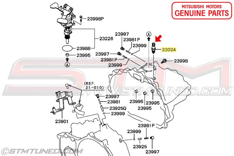2006 Mitsubishi Lancer Evolution Mr >> STM: OEM MITSUBISHI MANUAL TRANSMISSION REVERSE BACK UP ...